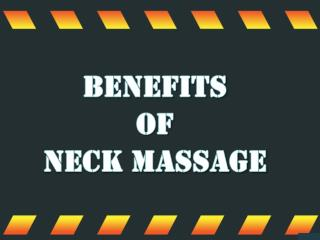 Benefits of Neck Massage