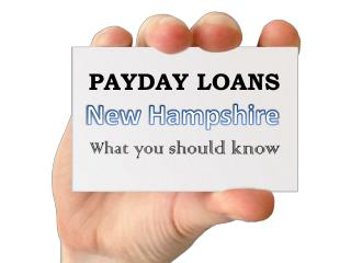 Is It Easy Online Way To Acquire Payday Loans New Hampshire