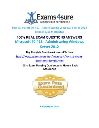 70-411 Practice Test