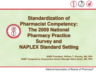 Standardization of Pharmacist Competency: The 2009 National Pharmacy Practice Survey and NAPLEX Standard Setting