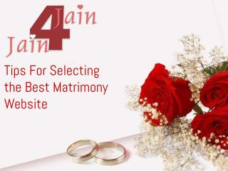 Tips for selecting the best matrimony website
