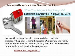 Locksmith Services in Grapevine TX