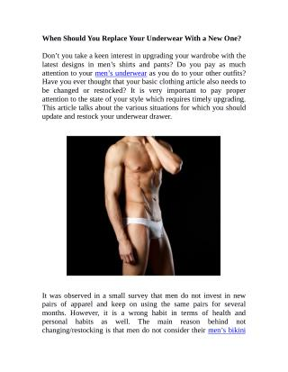 When Should You Replace Your Underwear With a New One?