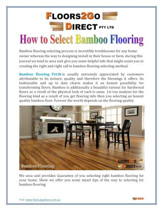 How to Select Bamboo Flooring