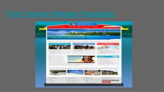Free Download tourism website templates