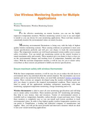 Use Wireless Monitoring System for Multiple Applications.pdf