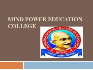 Admission Open in B.Ed. College