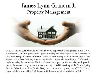 James Lynn Granum Jr Property Management