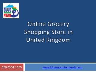 Online Grocery Shopping Store in United Kingdom