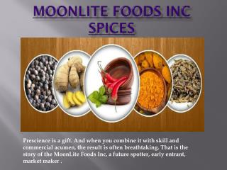 MoonLite Foods Inc and Spices