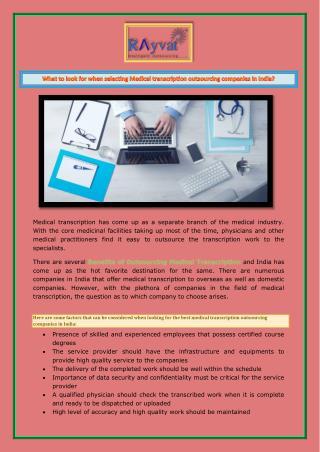 Medical transcription company in india
