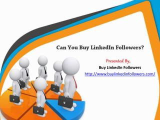 Can you buy LinkedIn Followers