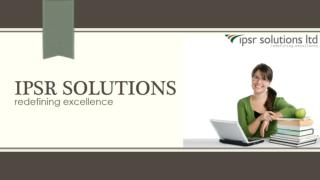 Ipsr solutions | The Complete IT Solutions