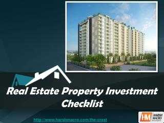 Real Estate Property Investment Checklist