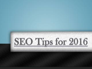 SEO Tips for 2016