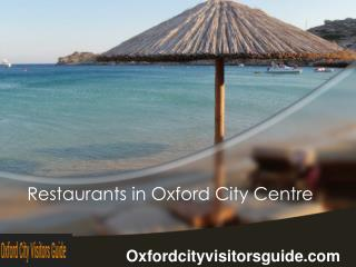 Restaurants In Oxford City Centre