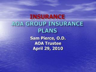 Insurance AOA Group Insurance Plans