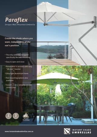 Paraflex Umbrellas for Your Patio Furniture