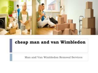 cheap man and van Wimbledon