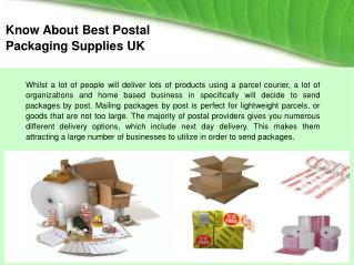 Best Postal Packaging Supplies UK