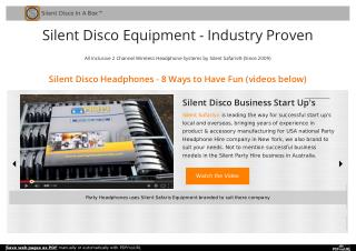 Online Silent Party Headphones at Affordable Rent