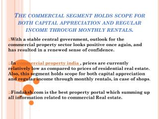 commercial property in India newest trends