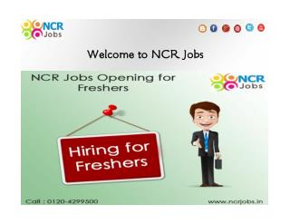 NCR Jobs Opening for Freshers