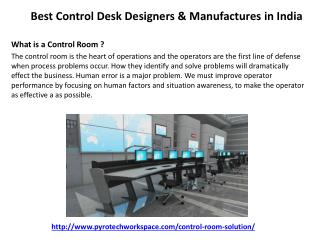 Best Control Desk Designers & Manufactures in India