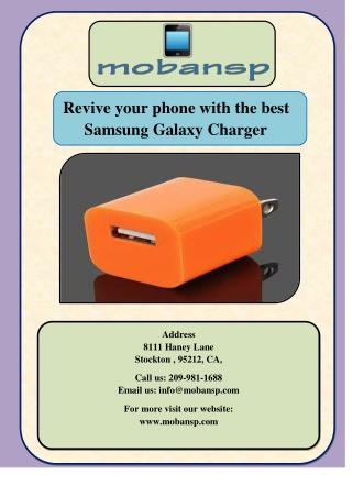 Revive your phone with the best Samsung Galaxy Charger