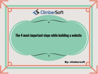 The 4 most important steps while building a Website