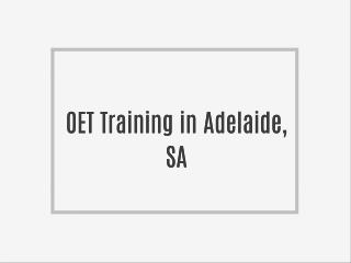 OET Coaching in Adelaide, SA