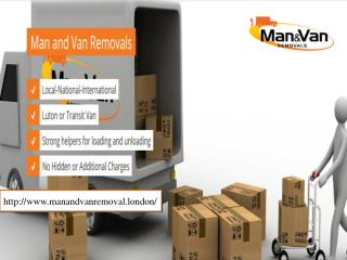 Man and van office removal London