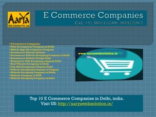 E Commerce Companies, Web Development Company in Delhi