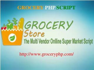 PHP Grocery Script