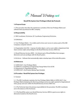 Software User Manual Sample