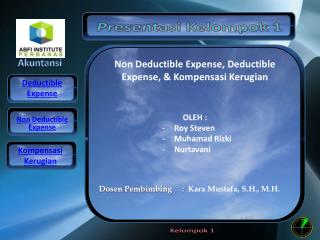 pajak deductible dan non deductible expense