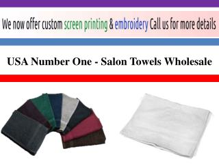 USA Number One - Salon Towels Wholesale