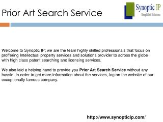 Prior Art Search Service