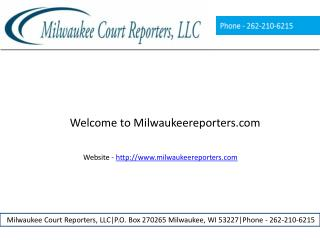 Court reporting business in milwaukee
