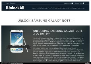 How to Unlock Samsung Galaxy Note II