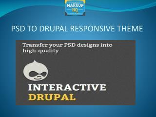 PSD to Drupal Responsive Theme