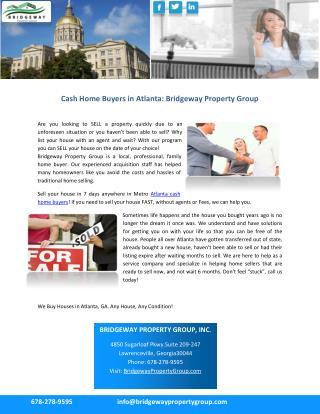 Cash Home Buyers in Atlanta: Bridgeway Property Group