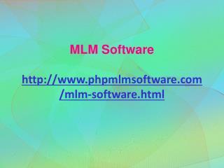 Multi Level Marketing Software, MLM Software