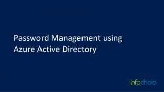 Password Management in Azure AD -microsoft azure in singapore