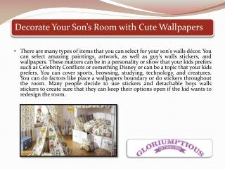 Decorate Your Son's Room with Cute Wallpapers