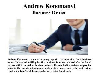 Andrew Konomanyi Business Owner