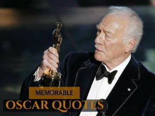 Memorable Oscar quotes