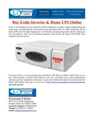 Buy Exide Inverter & Home UPS Online