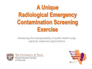 A Unique  Radiological Emergency Contamination Screening Exercise