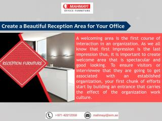 Improve Your Reception Area - Mahmayi Office Furniture